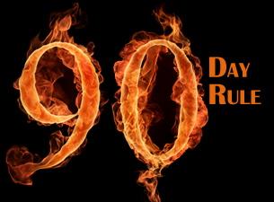 What is the 90 day rule for dating